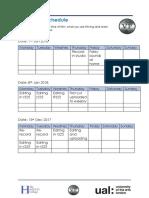 production schedule aughrim lough