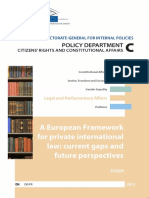 A European Framework or Private International Law. Current Gaps and Future Perspectives
