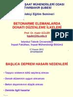 2012 Betonarme Elemanlarda Donatı Düzenleme İlkeleri - Prof. Dr. Kadir Güler