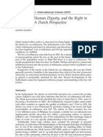 Autonomy, Human Dignity and the Right to Healthcare