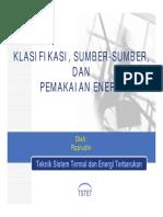 10 Klasifikasi Energi
