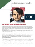 Ang Pag-ibig Ni Jacinto Sanaysay