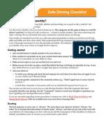2009-09-01 Safe Driving Checklist