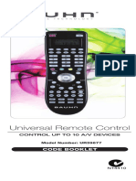 UR39677 Bauhn Universal Remote Code Book