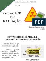 Detector de Radiação