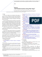 Standard Test Method for Measurement of Soil Potential (Suction) Using Filter Paper