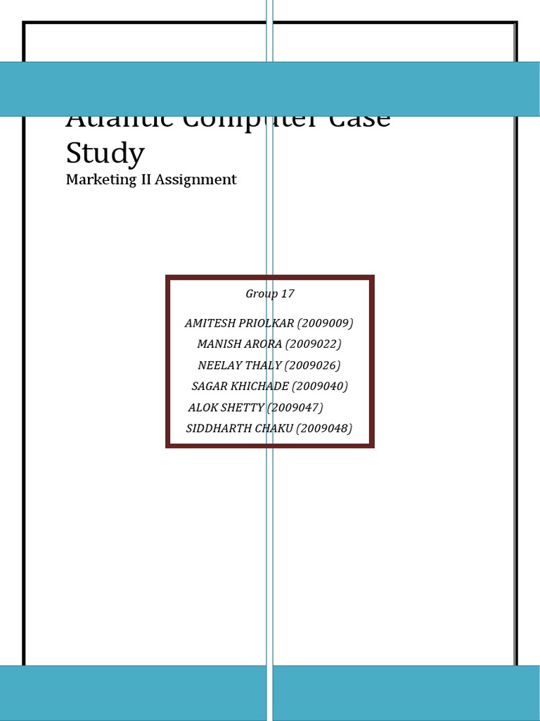 atlantic computer Atlantic computer case introduction: jason jowers, who had recently been hired by the computer manufacturer, atlantic computer, needed to devise a pricing plan for the company's newest products: the atlantic bundle.