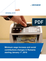 Minimum wage increase and social contributions changes in Romania starting January 1st, 2018