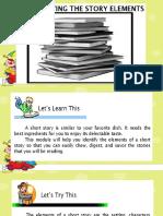 English 6 DLP Identifying the Story Elements