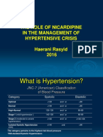 Peran Nicardipin Dalam Penanganan Krisis Hipertensi