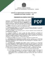 Edital 001_2017 - Presidente CONFEA e CREAs