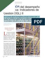 MEDICIÓN Del Desempeño en Logística Indicadores de Gestión (IGL) II