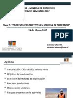 MIN334 - Minería de Superficie - Clase 3