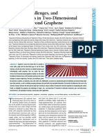 Progress, Challenges, And Opportunities in Two-Dimensional Materials Beyond Graphene