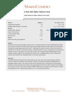 Recipe Alpha Hydroxy Fruit Acids