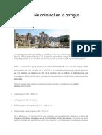 Investigación Criminal en La Antigua Roma