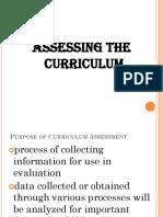 Assessing Curriculum Lec 3