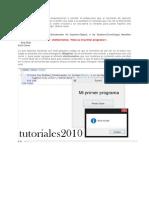 Visual Mi Primer Programa