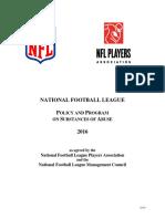 2016 NFLPA Drug Policy