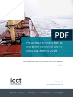 Prevalence of heavy fuel oil and black carbon in Arctic shipping, 2015 to 2025