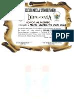 Diploma Maria Polo Vera
