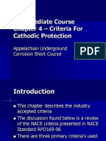 Intermediate-4-5 - Criteria for Cathodic Protection