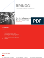Bringg White Paper the Key to Restaurant Delivery Excellence