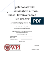 Computational Fluid Dynamics Analysis of Two-Phase Flow in a Packed Bed Reactor
