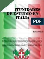 Oportunidades de Estudio en Italia