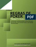 Regras de Poker Robert s Rules of Poker BR