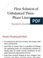 Power Flow Solution of Unbalanced Three Phase Lines