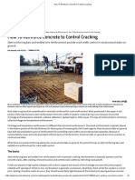 How to Reinforce Concrete to Control Cracking
