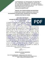 Edital de Alteração Estatutaria Publicação Na Sede 2018