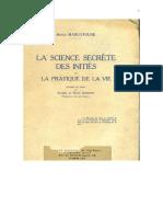 Serge Marcotoune La Ciencia Secreta de Los Iniciados y La Practica de La Vida