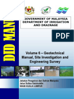 Malaisie - DID Manual - Volume 6 - Geotechnical Manual, Site Investigation and Survey