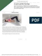 (6 Exercícios Simples Para Perder Barriga