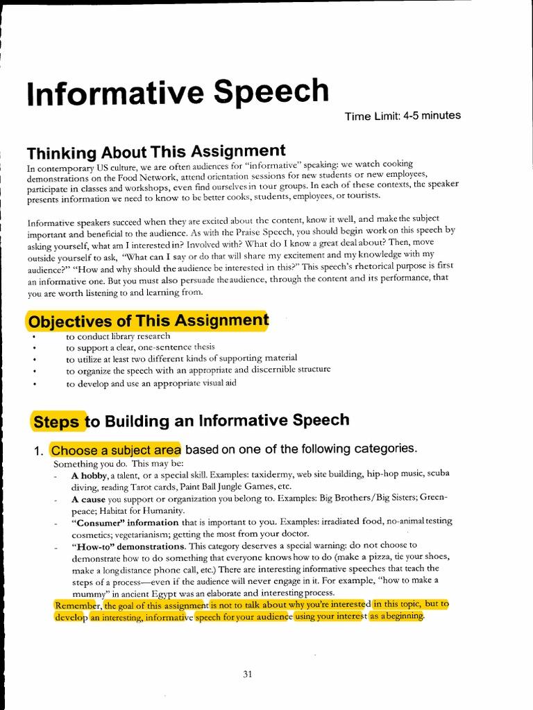 informative speech on culture