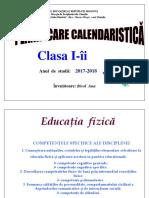 Planificare Calendaristica Clasa 1 Ed Fizica