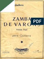Caballero Zamba de Vargas