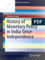 (SpringerBriefs in Economics) Ashima Goyal (Auth.)-History of Monetary Policy in India Since Independence-Springer India (2014)