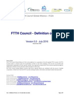 FTTH Definition of Terms