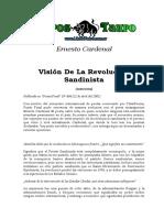 Cardenal, Ernesto - Vision Sobre La Revolucion Sandinista