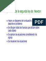 Aplicando Las Leyes de Newton