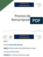 Proceso de Reinscripciones