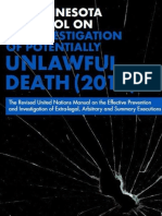 The Revised United Nation Minnesota Protocol on the Investigation of Potentially Unlawful Death