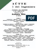 Manual Del Ingeniero Mecanico Hutte-Tomo I