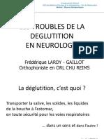 Troubles Deglutition en Neurologie 17-12-10