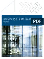 Risk Scoring in Health Insurance-A Primer