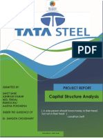 Capital Structure Analysis of Tata Steel Final