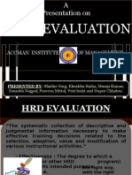 Hrd Evaluation and Audit